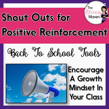 "Positive Reinforcement & Growth Mindset ""Shout Outs"""