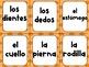 Spanish Body Parts Vocabulary Game