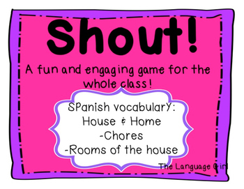 Shout! Spanish Vocabulary Game (House and Home)