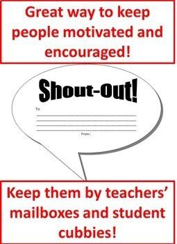 Shout-outs Affirmations Positive Psychology Reward Comment Bubble Cut-outs