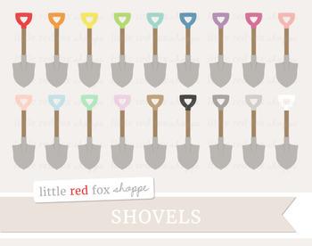 Shovel Clipart; Gardening, Yard Work, Tool