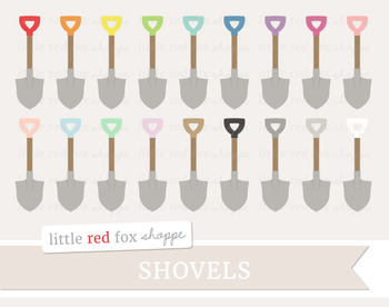 Shovel Clipart; Gardening, Yard Work, Tool