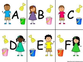 Shovel & Pail Centers-Letters, Numbers and Sight Words