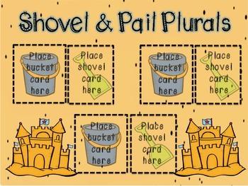 Shovel & Pail Plurals- CCSS ELA Grade 1- Plurals -s and -es ending