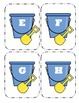 Shovel and Pail Capital Alphabet Flash Cards