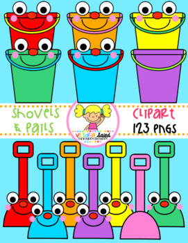 Shovels & Pails (Buckets) Clipart
