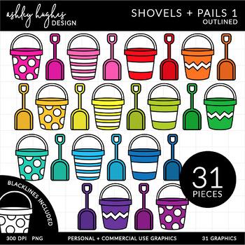 Shovels & Pails Clipart {A Hughes Design}