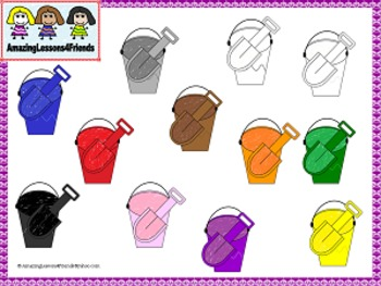 Shovels and Buckets Clipart