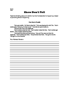 Show Don't Tell - A Revision Activity