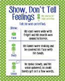 Show, Don't Tell Anchor Chart, Green Polka Dot