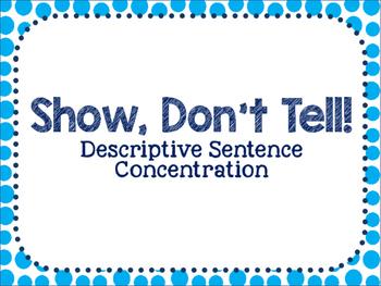 Show, Don't Tell- Descriptive Sentence Concentration