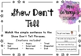 Show Don't Tell Emotion / Feelings Sentence Match Up