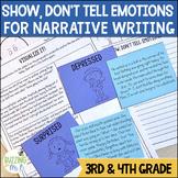 Show Don't Tell Emotions Narrative Writing Mini-lessons Unit
