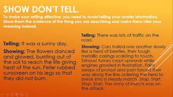 Show Don't Tell Examples, Top Tips, Task and Challenges