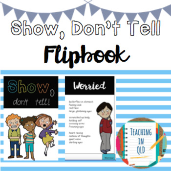 Show, Don't Tell Flipbook (4 versions)