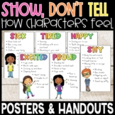 Show Don't Tell How Characters Feel Posters and Handouts