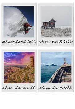 Show Don't Tell Polaroid Printable Activity