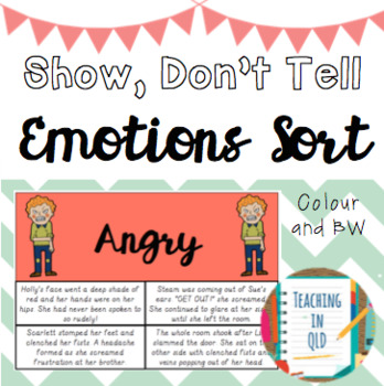 Show Dont Tell Sort 3 Versions By Teaching In Qld Tpt