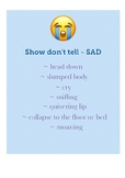 Show Dont Tell Emotion Posters