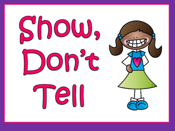 Writing:  Show Don't Tell Power Point