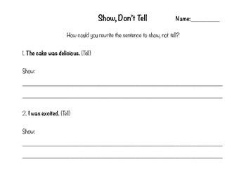 Show, Don't Tell - Writer's Workshop Strategies for Beginn