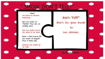 Show, Don't Tell: Writing Lesson and Activity