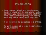 Show Don't Tell: Writing with Description, Action, Dialogue
