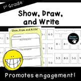 Show, Draw, and Write-Fact Fluency Activity (First Grade, 1.OA.6)