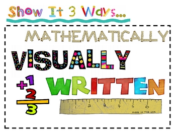 Show It 3 Ways Math Poster