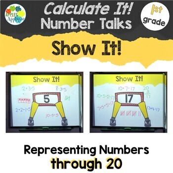 Show It! A Calculate It! Number Talk for First Grade Distance Learning