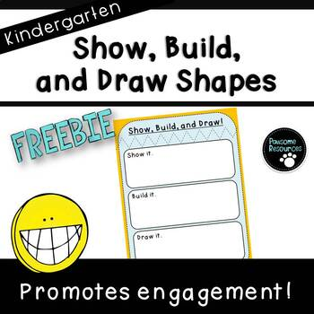 Build and Draw Shapes Mat (***Kindergarten FREEBIE***)