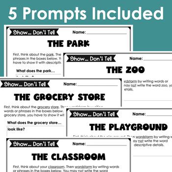 Show It! Descriptive Writing Exercises (Prompts)- Places