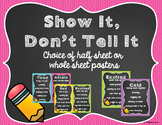 Show It Don't Tell It Posters with Chalkboard Frame