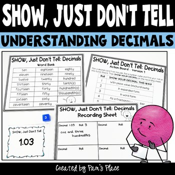 Decimals Activity - Represent Decimals in Different Ways