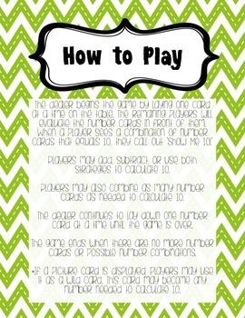 Show Me 10 Math Game