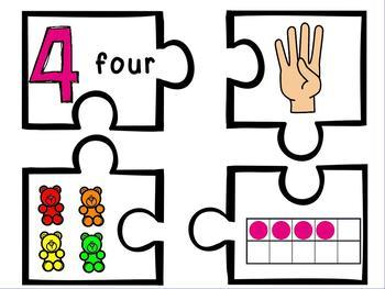 Show Me 3 Ways: Numbers 1-10 Puzzle