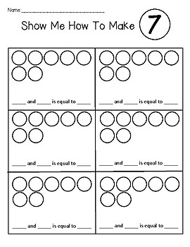 Composing Numbers: Show Me How To Make ___
