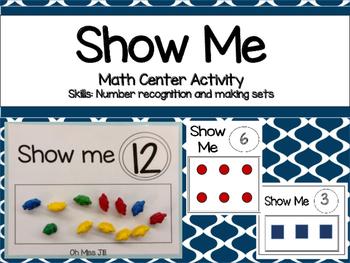 Show Me Math Game for Preschool and Kindergarten