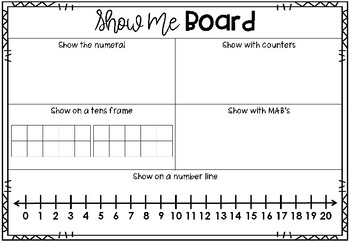 Show Me Number Boards
