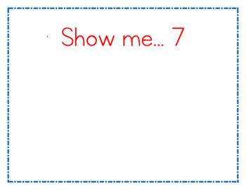 Show Me Number Mats