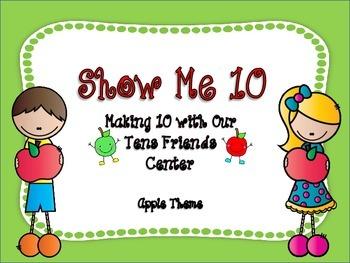 Show Me Ten Fluency Center with My Tens Friends (apple theme)