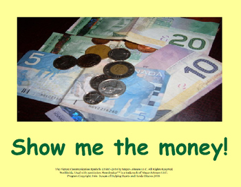 Show Me The Money Book - Canadian Bill and Coin Identifying