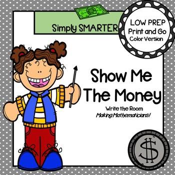 Show Me The Money:  LOW PREP U.S. Coins Write the Room