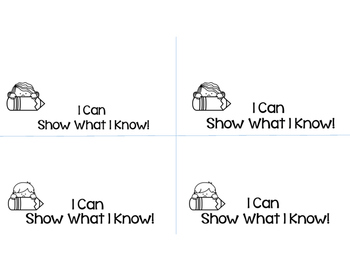 Show Me What You Know Exit Ticket