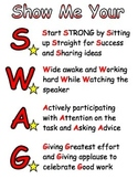 Show Me Your S.W.A.G.: Classroom Expectations