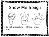 Show Me a Sign Vocabulary Poster