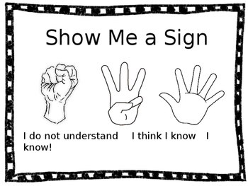 Show Me a Sign Vocabulary Poster