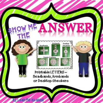 Show Me the Answer - Letters