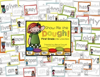 Show Me the Dough! {First Grade Sight Word Mats}