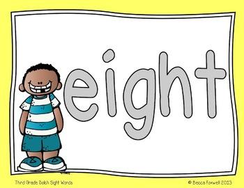 Show Me the Dough! {Third Grade Sight Word Mats}
